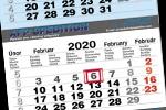 Tříměsíční skládané kalendáře s lepenou vazbou 2019