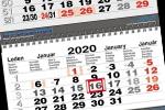 Tříměsíční skládané kalendáře s vazbou twin-wire 2019
