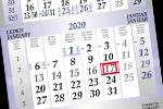 Tříměsíční jednolisté luxusni kalendáře 2019, křídový papír
