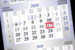 Výroba tříměsíčních kalendářů