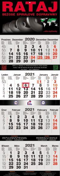 Čtyřměsíční kalendář | ACAN výroba čtyřměsíčních kalendářů