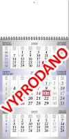 TYP M 40: Tříměsíční kalendář modrý, křídový papír