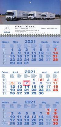 Tříměsíční kalendář nástěnný B-M-B