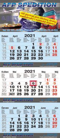 Tříměsíční kalendář | ACAN výroba tříměsíčních kalendářů